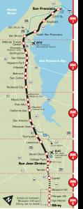 Caltrain Zone Map
