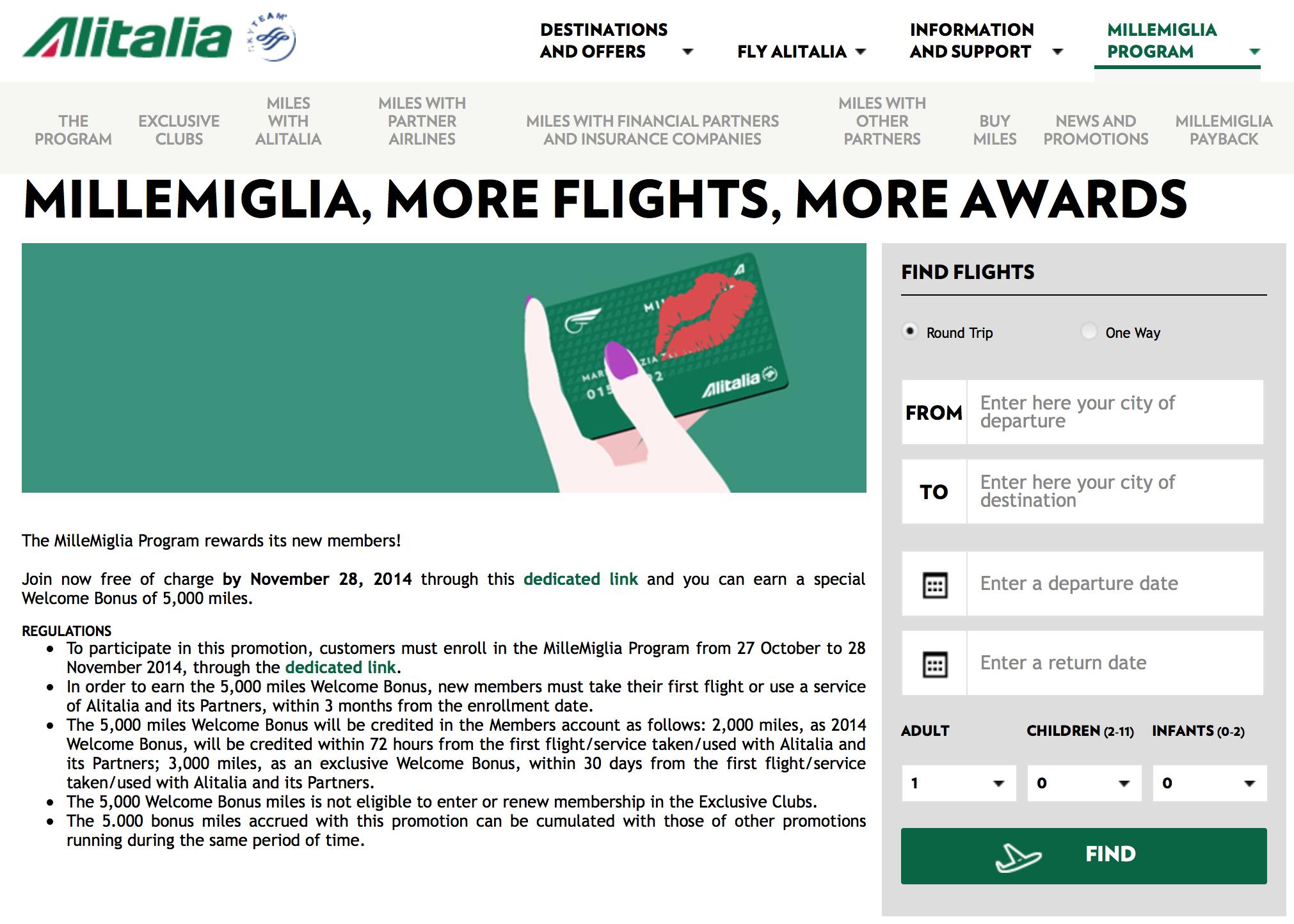 Programma Mille Miglia Alitalia