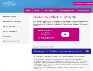 Wizz air check-in on line