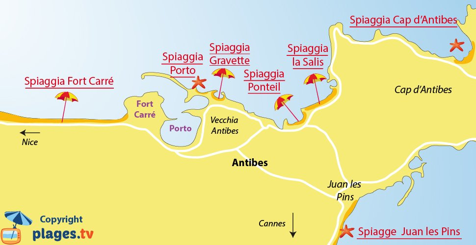 Antibes spiagge