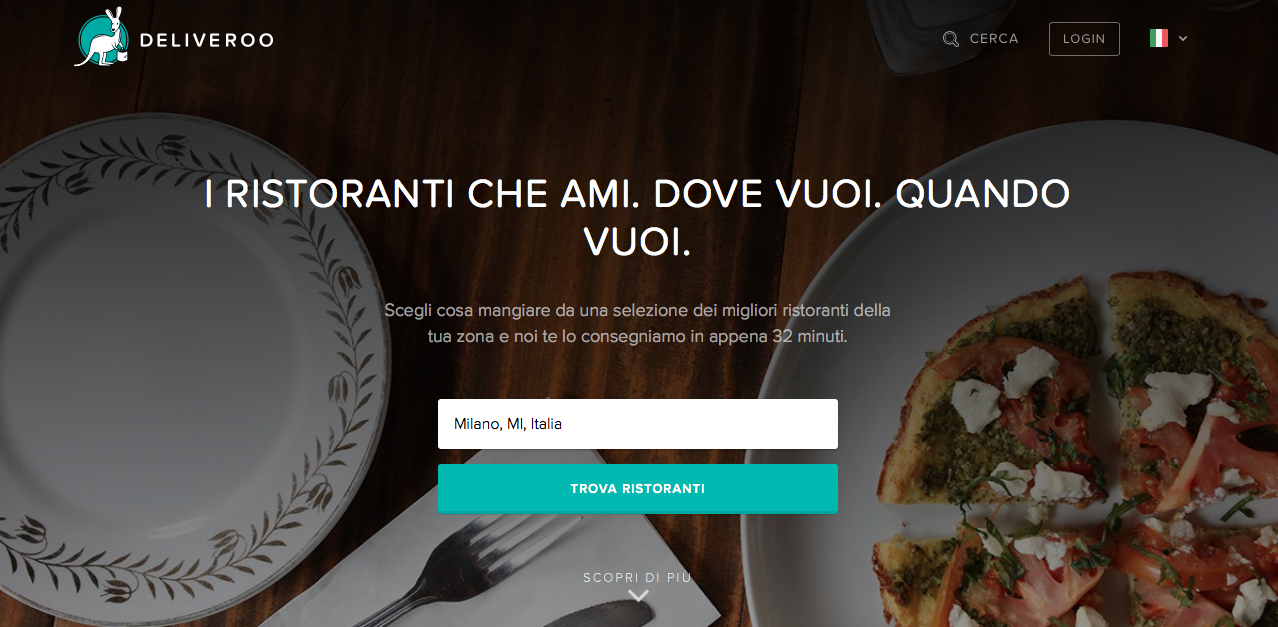 Homepage Deliveroo