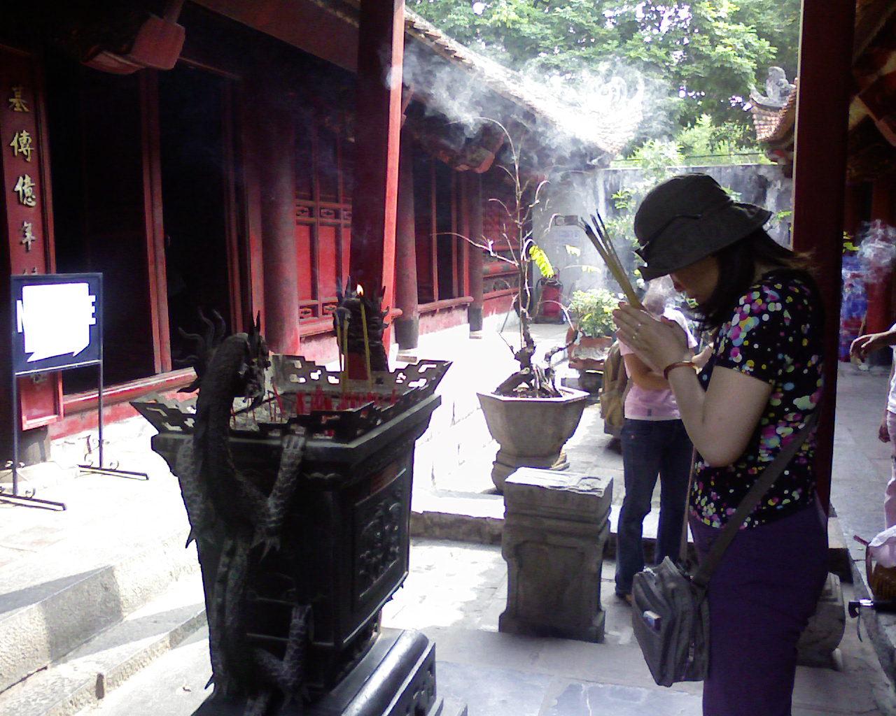 Buddhist Woman Worshipping