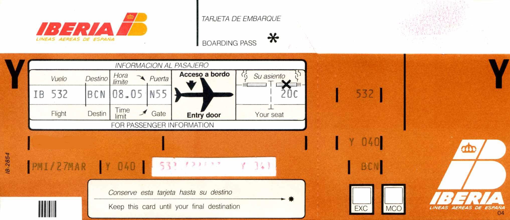 Come cambiare nome ad un volo Iberia