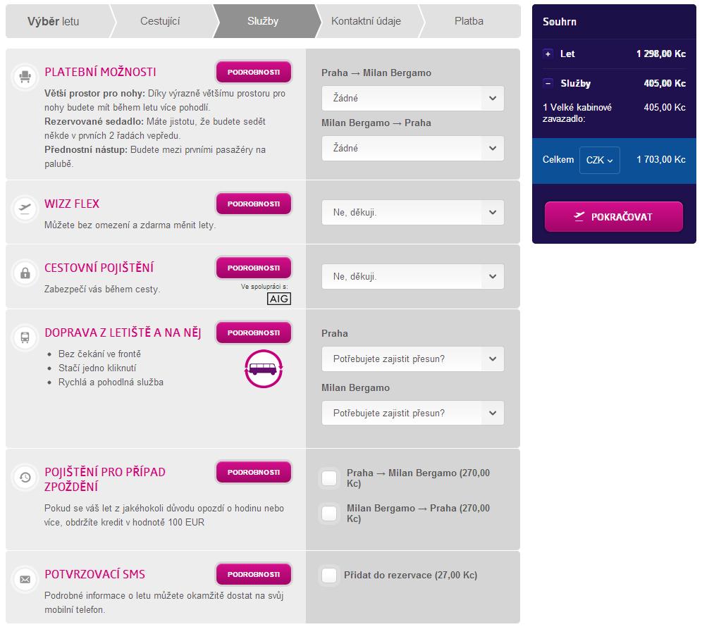 Come cambiare nome ad un volo Wizz Air