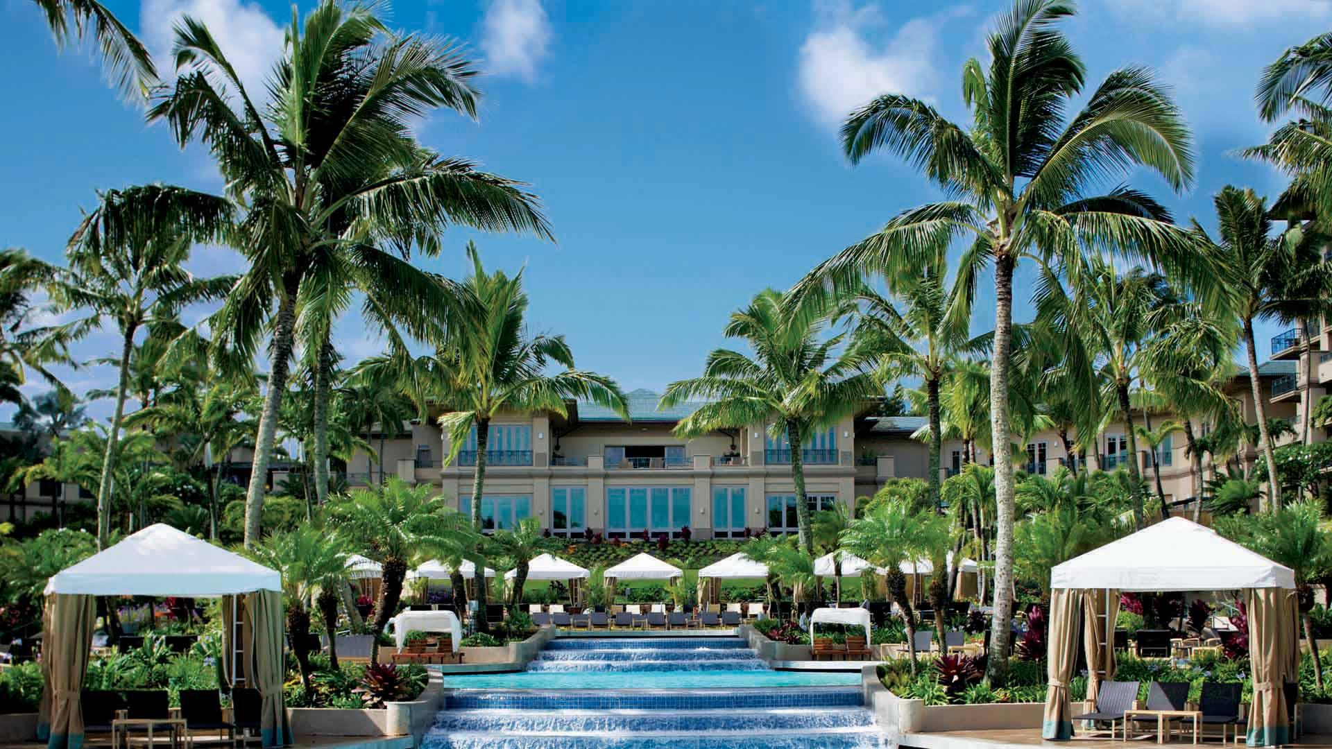 Ritz Carlton Kapalua, pool waterfall