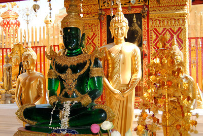 the Giada Buddha at Doi Suthep, Chiang Mai