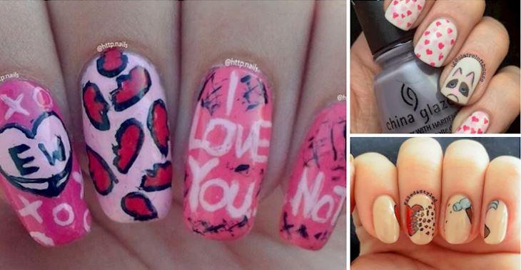 16 nail art anti San Valentino che amerai