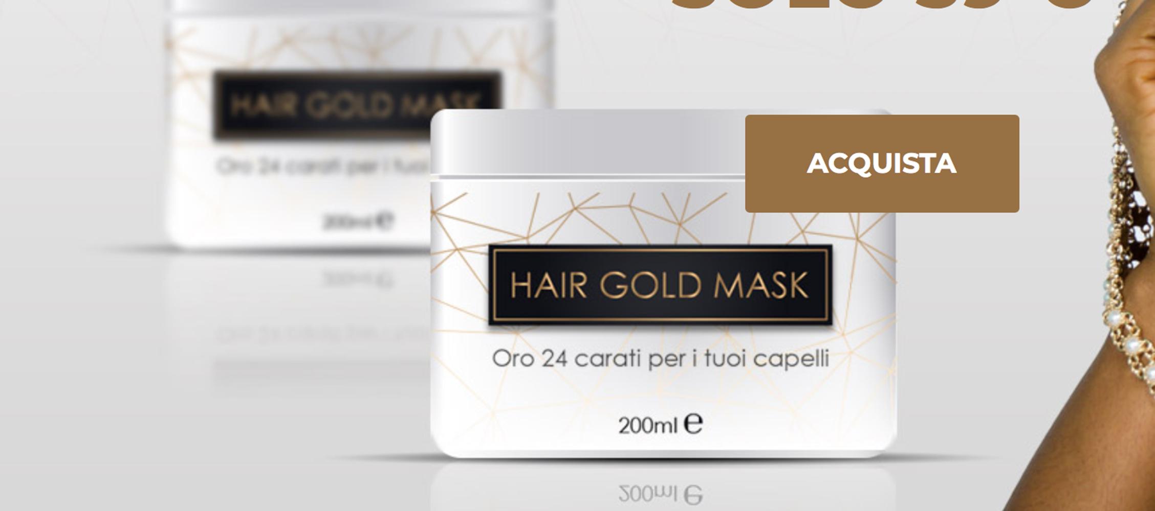 Hair Gold Mask, funziona? Opinioni e recensioni