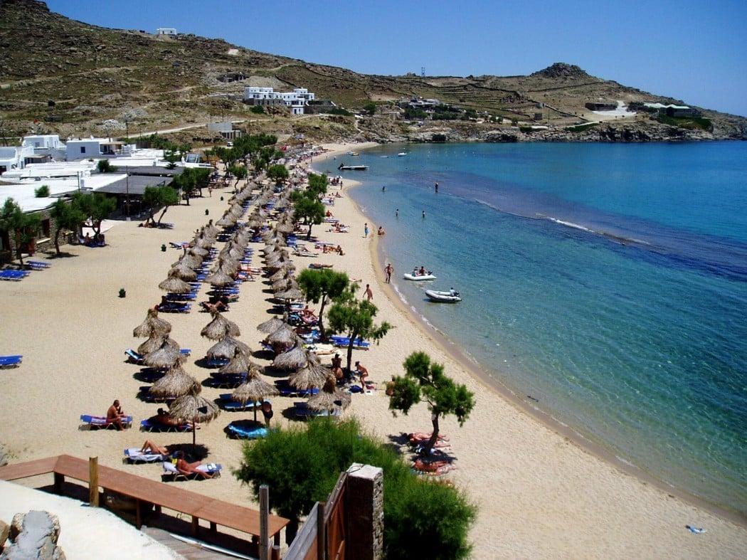 Spiagge senza vento Mykonos